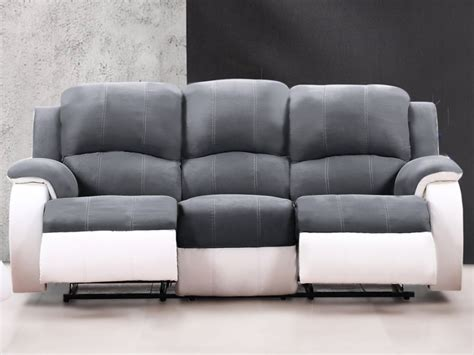 canapé microfibre relax canapé et fauteuil relax en microfibre 3 coloris bilston