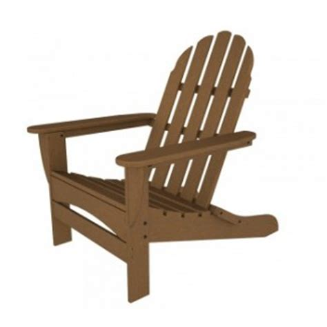 polywood resin patio furniture curved back adirondack chair