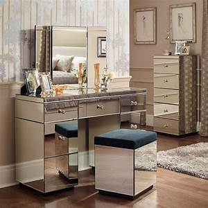 Coiffeuse Meuble Moderne : meuble coiffeuse en blanc et en d autres couleurs 30 id es ~ Teatrodelosmanantiales.com Idées de Décoration