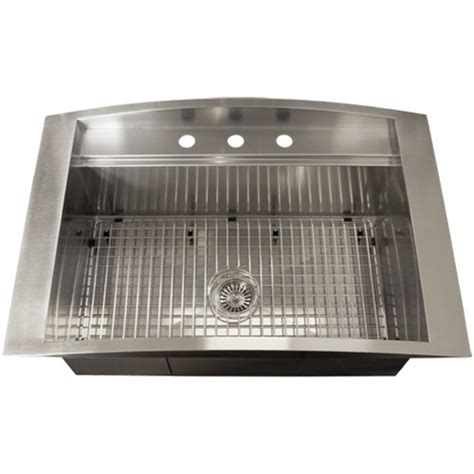 Square Overmount Kitchen Sink by Ticor Tr2000 Overmount 16 Stainless Steel Square