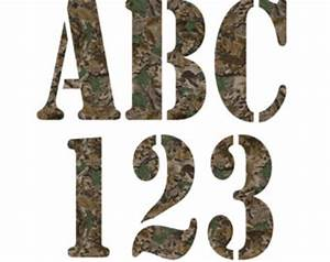 camouflage letters clip art 49 With hunting letter art