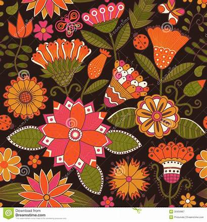 Theme Abstract Summer Seamless Floral Pattern Background