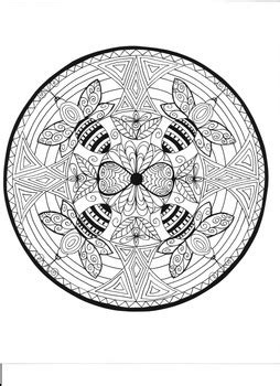 bumble bee mandala coloring page  drawing dragonflies tpt