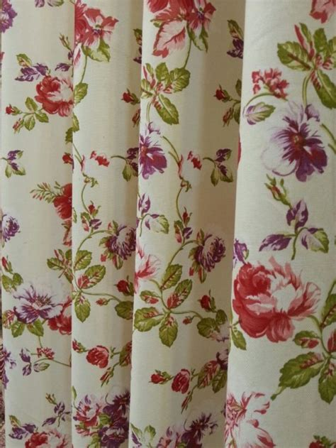 blossom floral pattern curtain fabric curtains fabx
