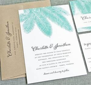 new charlotte teal palm tree wedding invitation sample With early invitations destination wedding