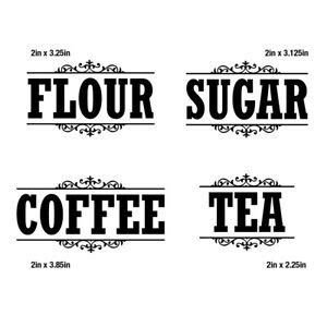 Kitchen Canister Labels by Canister Label Set Decal Stickers Kitchen Home Decor