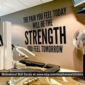 Exercise Stickers Gym Wall Decal Workout by