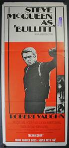 BULLITT, Original Movie Poster starring Steve McQueen