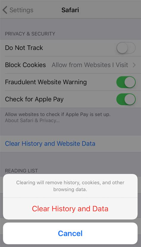 how to clear safari history on iphone how to delete documents and data on iphone 7 6s 6 se 5s