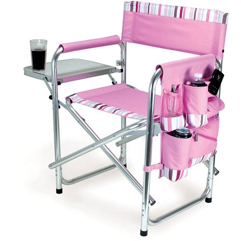 picnic time sports chair pink with stripes 809 00 102 000 0