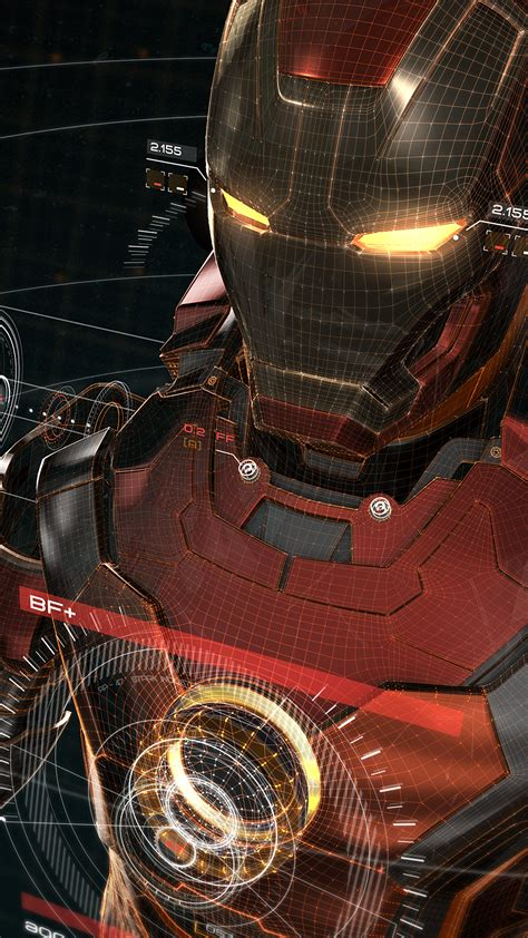 aq ironman  red game avengers art illustration hero