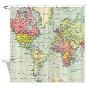 map shower curtains cafepress