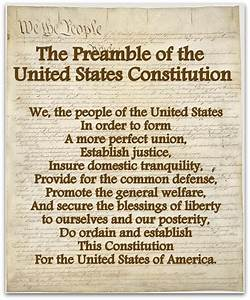 U S  Constitution  The Preamble