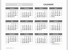 Printable 2019 Yearly Calendar Templates US Edition [11