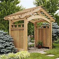 garden trellis plans Arching Garden Arbor Woodworking Plan, Outdoor Backyard ...