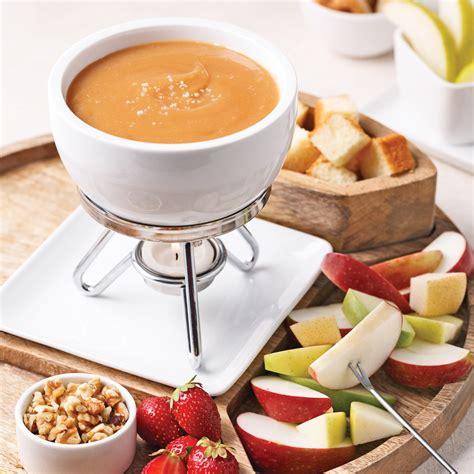 sel de cuisine fondue au caramel à la fleur de sel recettes cuisine