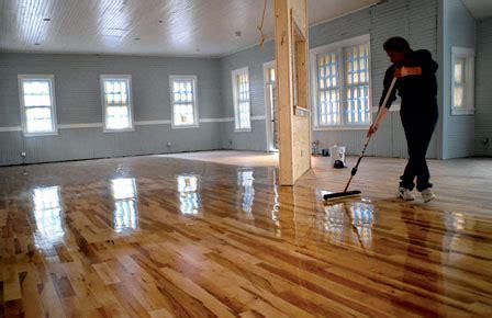 remove  apply polyurethane  hardwood floors
