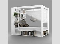 4you 4 Poster Double Bed With Storage & Shelves In White