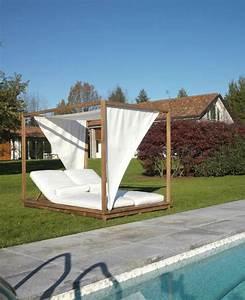 Lit Exterieur Jardin : salon de jardin bains de soleil et poufs 20 meubles lounge ~ Teatrodelosmanantiales.com Idées de Décoration