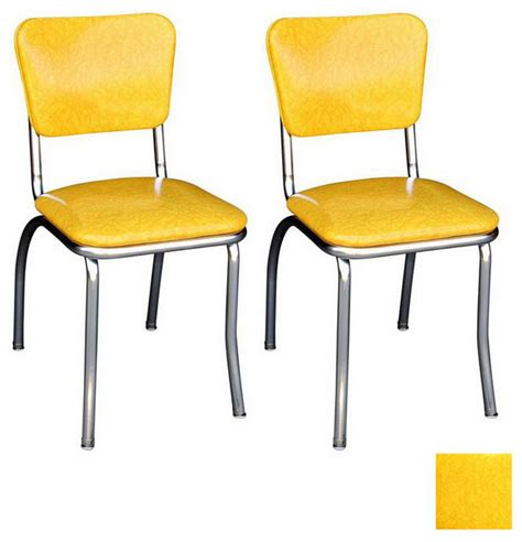 richardson seating 50s retro chrome dining chair modern
