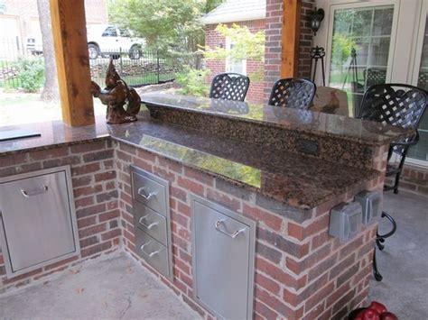 brick outdoor kitchen red brick outdoor kitchen