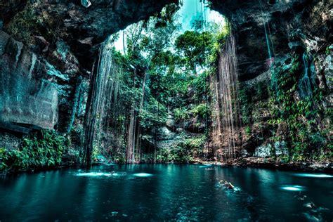 Fondos de pantalla : 2048x1367 px, cueva, Cenotes, lago ...