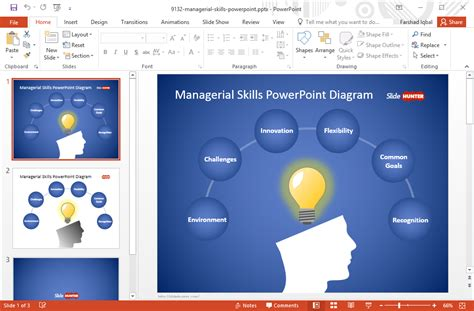 Balanza Template Powerpoint by Free Managerial Skills Template For Powerpoint