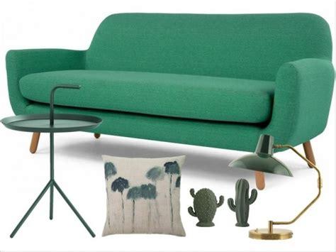 canapé vert canape vert salon idees design de maison