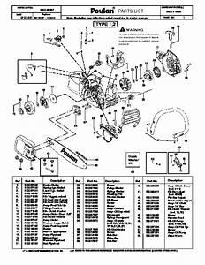 Poulan P3314 Wsa Chainsaw Parts List  2008