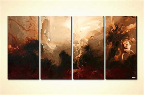 painting  sale multi panel brown abstract art moon