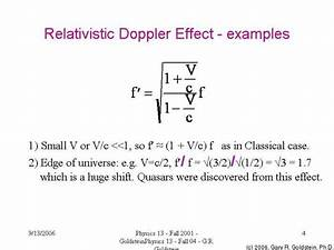Relativistic Doppler effect