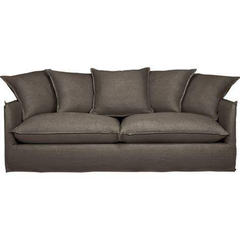 crate and barrel sofas and loveseats oasis sofa in sofas crate and barrel