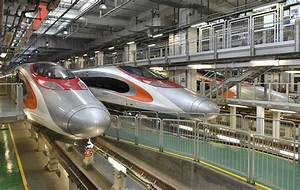 MTR's made-in-China bullet trains pull into Hong Kong