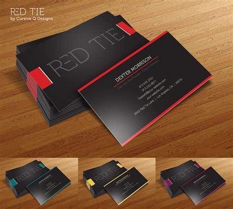 business card ideas red tie unique design business