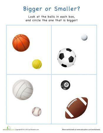 bigger or smaller sports balls prek k sports sports 226 | c983ca2e8c43891687a13300913af0fe