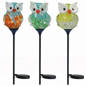 30 in Owl Solar Stake Light-BW15147 - The Home Depot