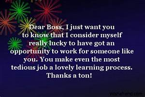 Thank You Note For A Gift From Boss Dear Boss I Just Want You Thank You Notes For Boss