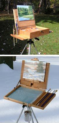 portable wooden easel painting travel bench wood artists