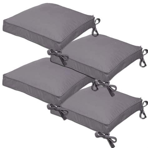 coussin de chaise gris 4 galettes home united grises achat