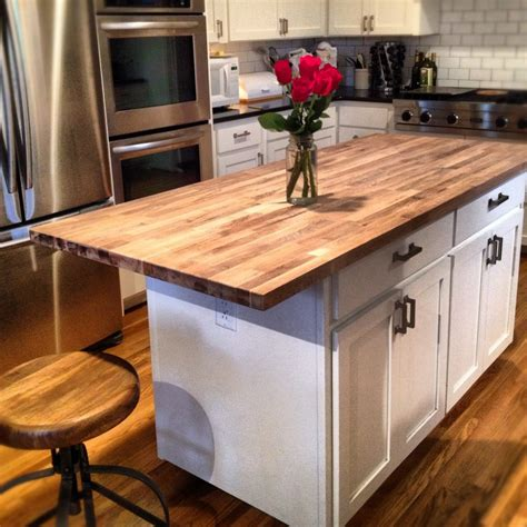 country home bathroom ideas butcher block kitchen island material countertop of