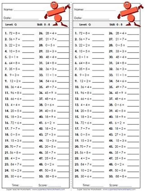gallery  multiplication  division worksheets grade