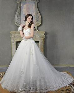 vintage lace princess wedding dress with sweetheart ...