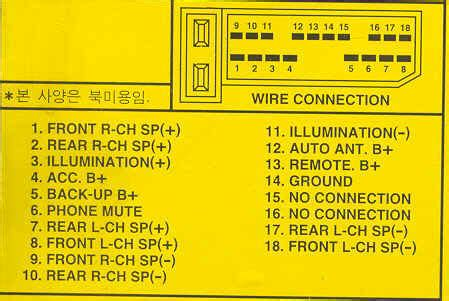 Car Audio Wire Diagram Codes Daewoo Factory Stereo