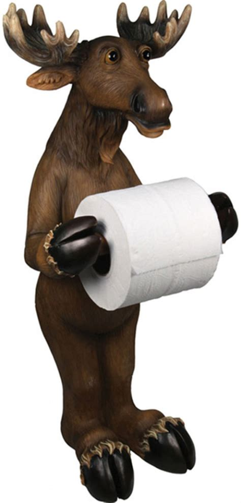 standing moose toilet paper holder