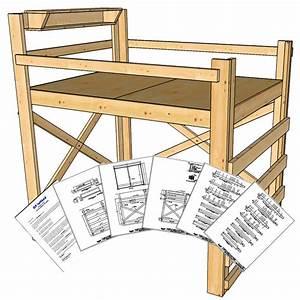 Queen Size Loft Bed Plans - Tall Height - OP Loftbed