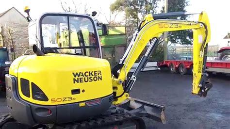 wacker neuson  mini excavator youtube