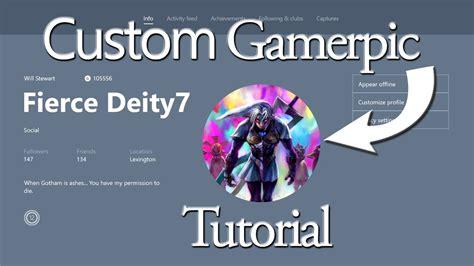 Custom Gamerpic Tutorial For Xbox One - YouTube