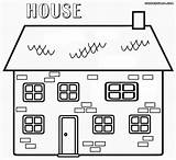 Coloring Pages Haunted Building Colorings sketch template