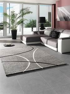 Tapis Salon Design : tapis salon gris design maison design ~ Teatrodelosmanantiales.com Idées de Décoration