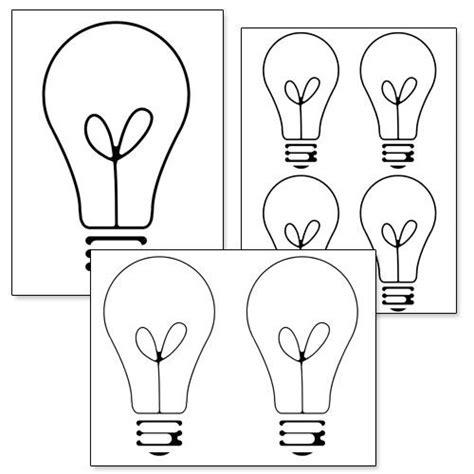 christmas light bulb template printable light bulb template from printabletreats com